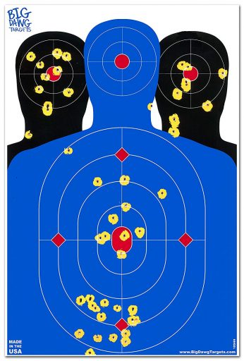 Big Dawg Targets - 12 x 18 Triple Silhouette Reactive Splatter Shooting Target