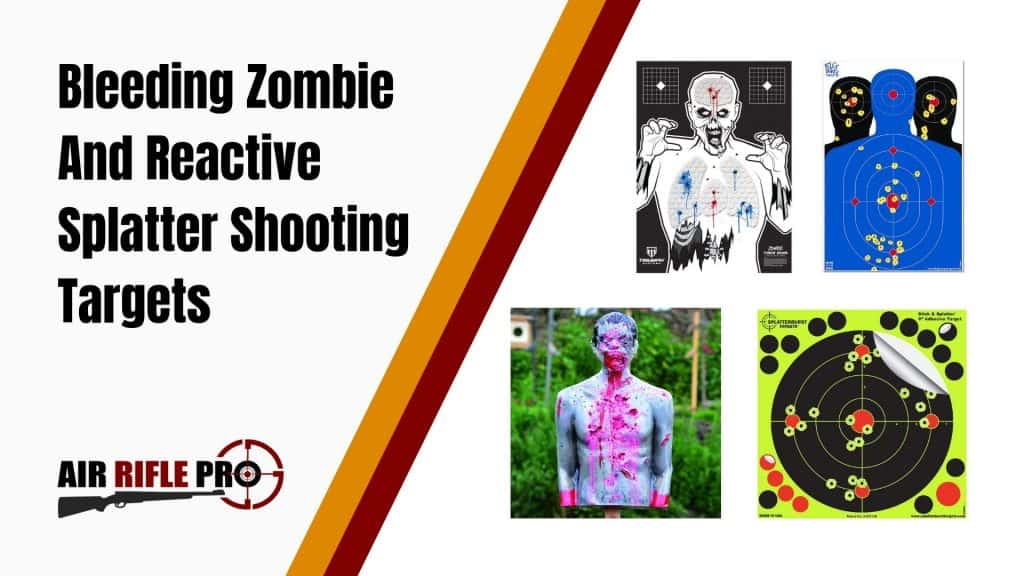 Bleeding Zombie And Reactive Splatter Shooting Targets